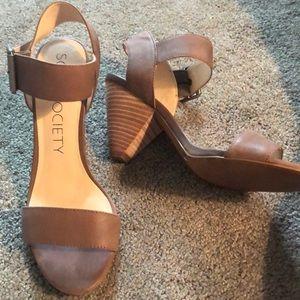 Sole society block heels